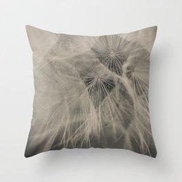 Black & White Dandelion Throw Pillow