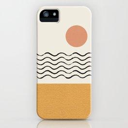Sun Wave Beach - Abstract iPhone Case