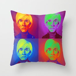Celebrity Sunday - Andy Warhola on Andy Warhola Throw Pillow