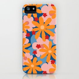Camo A GoGo Floral in Circus Colors iPhone Case