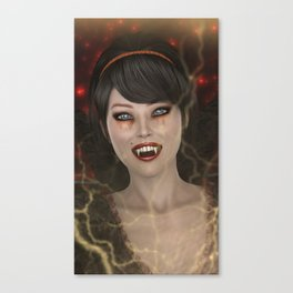 Lady Vamp Canvas Print