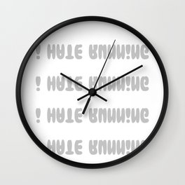 I Love Running I Hate Running Funny Workout Gym print Gift Wall Clock