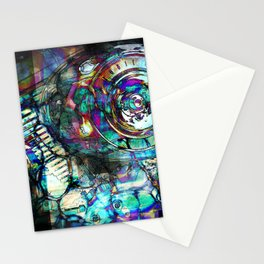 Gasoline Motorcycle Engine Stationery Cards