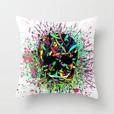 COLOUR SKULL  Throw Pillow