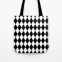 Black and White Liquorice Pattern Tote Bag