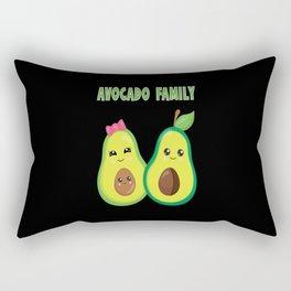 Avocado Family Vegan Plant-Based Healthy Diet Rectangular Pillow