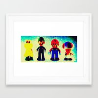 mario bros Framed Art Prints featuring Super Mario Bros. by Silvio Ledbetter