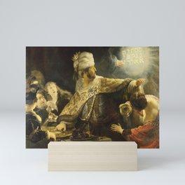 """Rembrandt Harmenszoon van Rijn, """"Belshassar's Feast"""", 1636-8 Mini Art Print"""