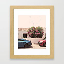 Residential Street on a Spanish Island Framed Art Print