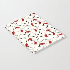 Strange Red Flowers Pattern Notebook
