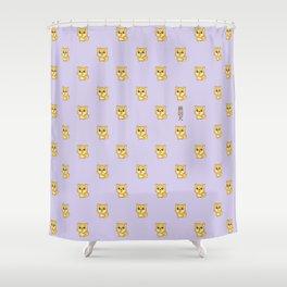Hachikō, the legendary dog pattern Shower Curtain