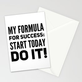 My Formula For Success Start Today Do It Motivation Gift Stationery Cards