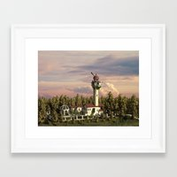 astronomy Framed Art Prints featuring Astronomy tower by Alexander Atkishkin