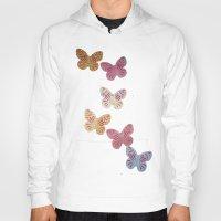 butterflies Hoodies featuring Butterflies  by Sammycrafts