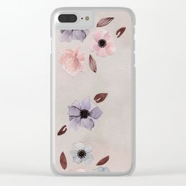 Flower Collage Clear iPhone Case
