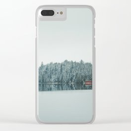 Frozen Lake in Canada Clear iPhone Case