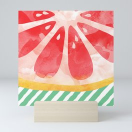 Red Grapefruit Abstract Mini Art Print