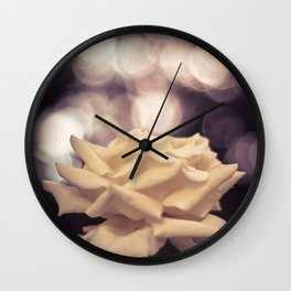 Sexy White Rose Wall Clock