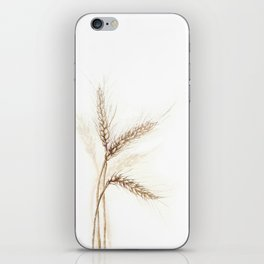 Wheat (Watercolor painting) iPhone Skin