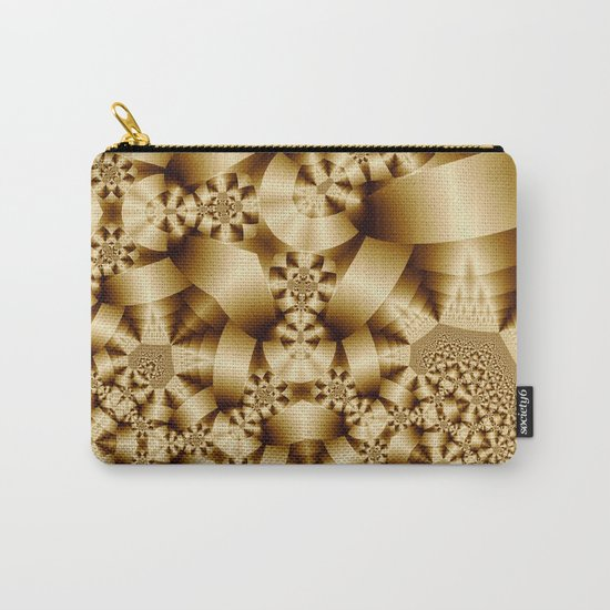 Golden shapes and patetrns in 3-D Carry-All Pouch