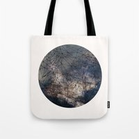 gravity Tote Bags featuring Gravity by Louise Donovan