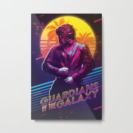 Star Lord Retro Poster Metal Print