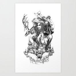Gothic Santa Art Print