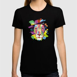This Lion Is Fading Away In Colors T-shirt