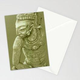 mayan nobleman green Stationery Cards