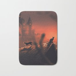 Red Halloween Night 2 Bath Mat