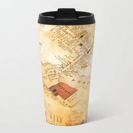 Allentown, New Jersey Map and Mill by Ericka O'Rourke Metal Travel Mug