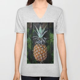 Weathered Pineapple Unisex V-Neck