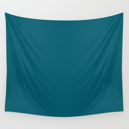 Inspired by Sherwin Williams 2020 Trending Color Oceanside (Dark Turquoise) SW6496 Solid Color Wall Tapestry
