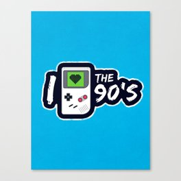 I Heart the 90's Canvas Print