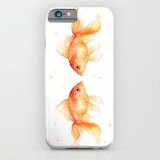 Goldfish Love Watercolor Fish Painting iPhone 6s Slim Case