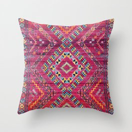 N118 - Pink Colored Oriental Traditional Bohemian Moroccan Artwork. Throw Pillow