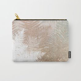 Fern Snowflakes - Golden, bronze & Sage Carry-All Pouch
