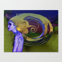 lost in translation Canvas Prints featuring Lost in Translation  by Procer Khepri