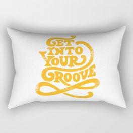 Get Into Your Groove Vintage Orange Rectangular Pillow