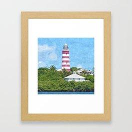 Hope Town Lighthouse Framed Art Print