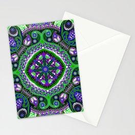 Boho Kaleidoscope Floral Pattern Var. 4 Stationery Cards