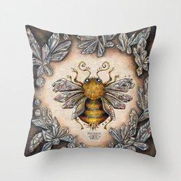 Crystal bumblebee Throw Pillow