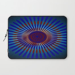 Mandala Sunrise in Maroon and Blue Laptop Sleeve