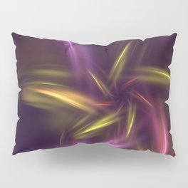 Fantasy Purple Flower Pillow Sham