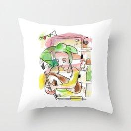 Uilleann Pipes Irish Trad Music Throw Pillow