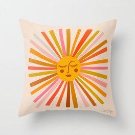 Sunshine – Retro Ochre Palette Throw Pillow