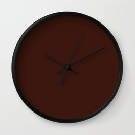 Cello in Repose ~ Mahogany Coordinating Solid Wall Clock