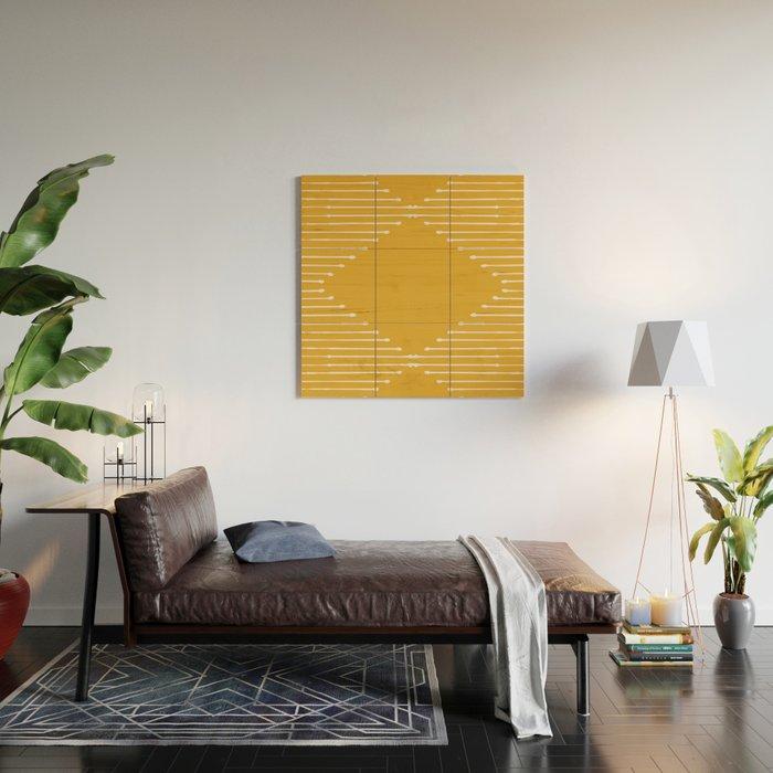 Geo / Yellow Wood Wall Art
