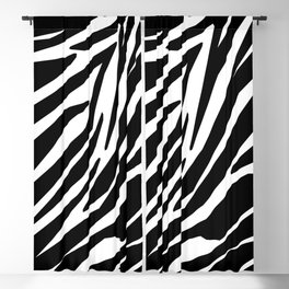 Zebra Black and White Pattern Blackout Curtain