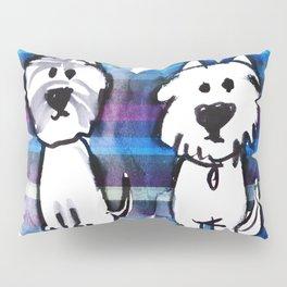Two very serious Westies Pillow Sham
